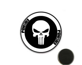 Punisher white - 25 mm Magnet magnet