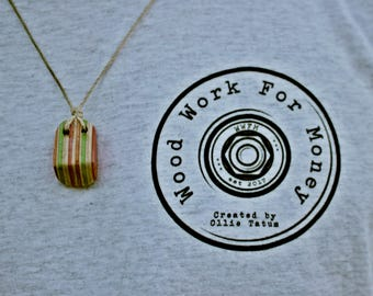 Handcrafted Wooden Skateboard Necklace