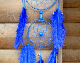 Dream catcher / Navy / ostrich feathers