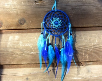 Dream catcher Turquoise and blue / real 30 cm