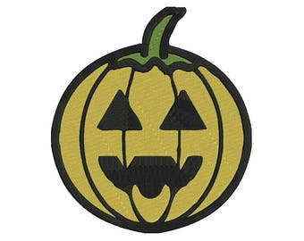 Pumpkin Embroidery Design - 4 sizes and 6 formats