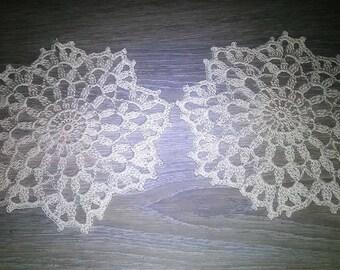 2 crocheted doilies