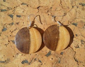 Earrings in acacia African boaca4