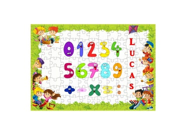 252 puzzle pieces number personalized first name choice ref 100