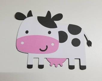 Cute Cow Cutout - Farm Theme