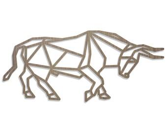 Taurus ORIGAMI laser cut wood size C