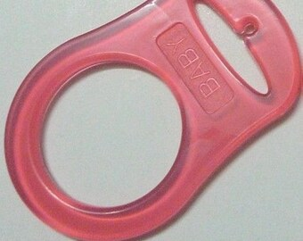 Red silicone pacifier ring