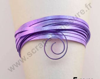 5mm x 5 m - purple streak - aluminum wire