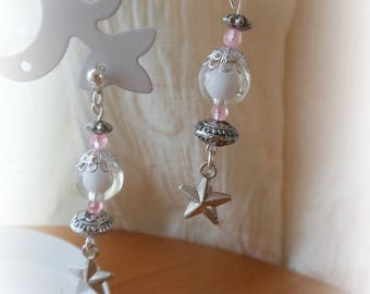 FANCY WITH TRANSLUCENT BEAD AND STAR EARRINGS