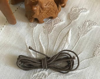 Plain brown cotton cord