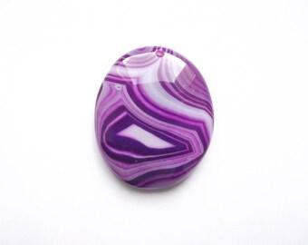 ELIA 325 oval dyed purple agate pendant