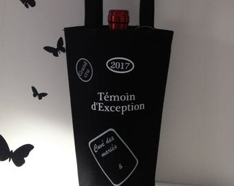 customizable black wine bottle bag