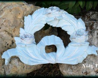 "Bow wood ""louis XVI"" blue"