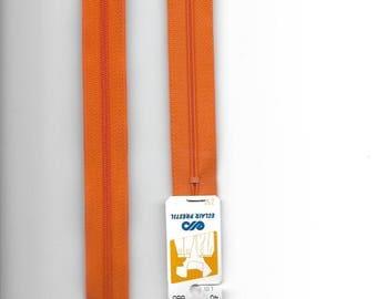 "Closure zipper""plastic"" not separable Z51 40cm orange 680"