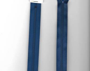 """Closure 20cm zipper""""plastic"""" not separable Z51 blue 550"""