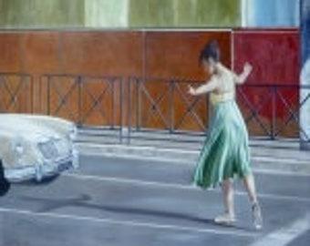 Dancer (Ballerina) in Santiago, Chile Giclee