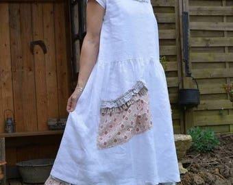 Miss white white linen dress