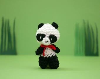 Keychain amigurumi panda