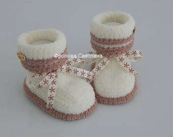 Baby booties , Baby boy, Baby girl, Knitted baby booties, baby booties, booties