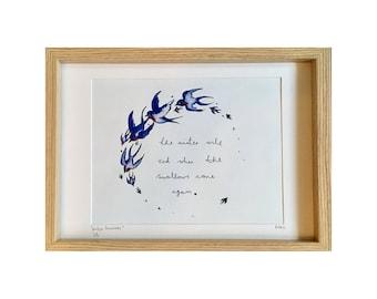 Winter Swallows Print