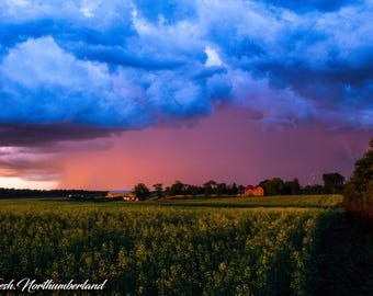 Landscape Photography Weather Storm Farmhouse Print