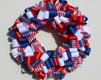 Ribbon Wreath-American