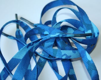 Camouflage Blue 9 mm 1.1 m laces