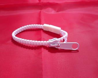 plastic zip open or closed bracelet