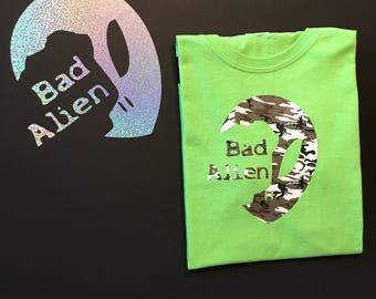 Bad Alien /  Camouflage  Alien T-shirt/ Alien Head T-shirt / Alien Print / Custom Alien / Custom T-shirts