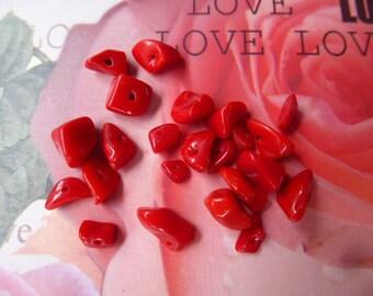 23 red sachet stones Jasper chips beads of 5 gr 199/5