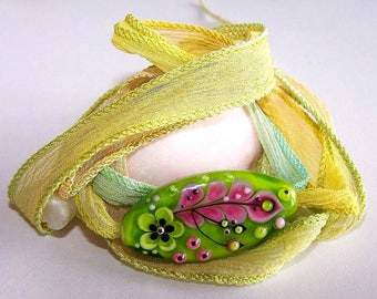 Silk thread and Glass Bead Bracelet