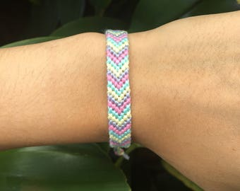 Chevron Friendship Bracelet: PINK LEMONADE
