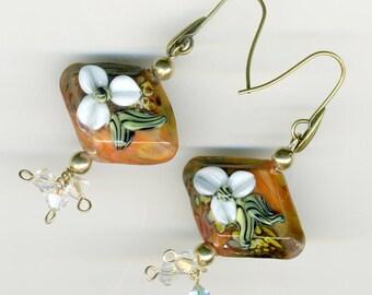 "-30% earrings artisan ""gingerbread"""
