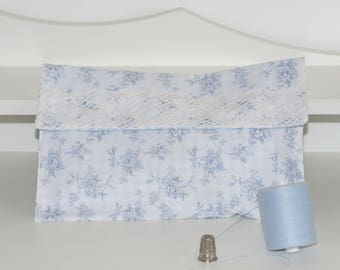 Pocket diaper wipes shabby gingham lace jewelry