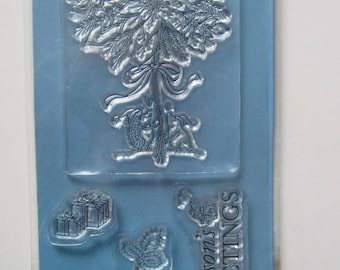 Transparent Clear stamp depicting an edelweis squirrel gifts - 75 x 140 mm