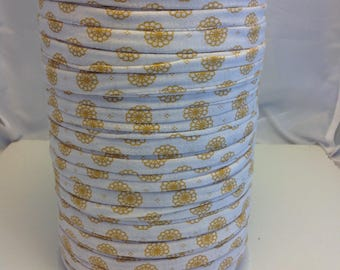 Large spool of Trapilho cotton jersey printed yellow Provence