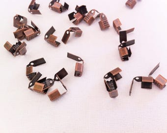 20 caps form clip coppered flaps for ties, 9x4mm
