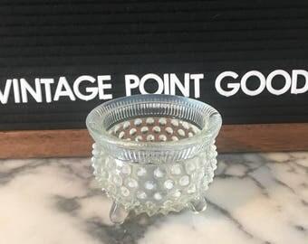 Hobnail glass bowl