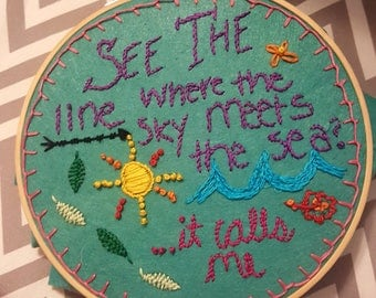"Moana ""How Far I'll Go"" Embroidery"