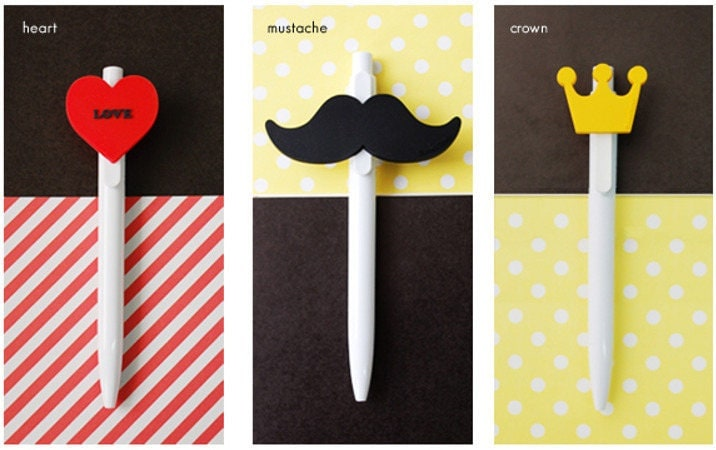 Mustache Crown And Heart 0 5 Mm 215 3 Pens From