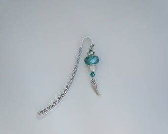 Charm - Emerald and Pearl bookmark