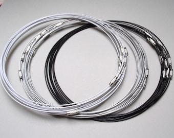 3 twist wire 45 - silver grey - white - black.