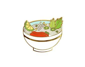 Pho Noodles Enamel Pin