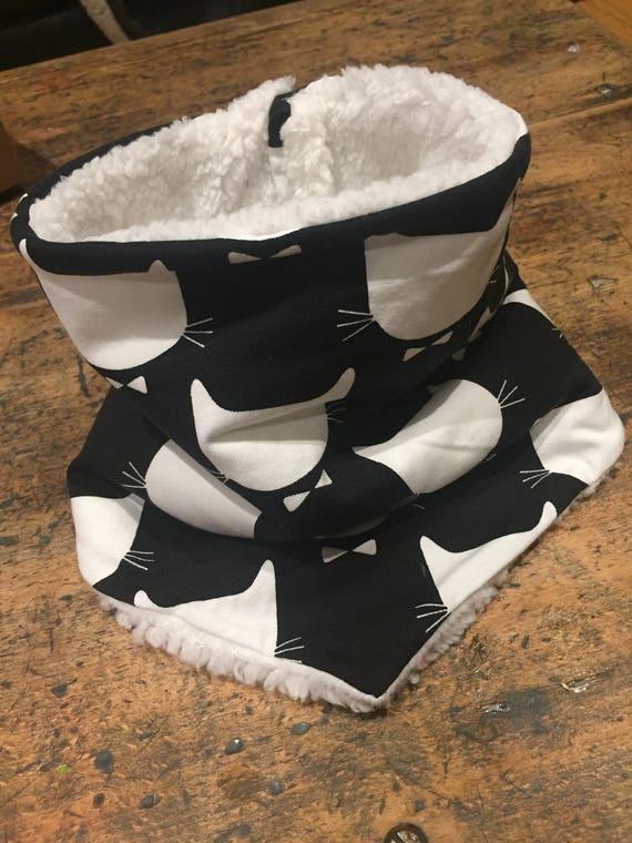 Snood/bandana pattern cat neck circumference