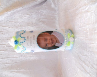 Personalized baby baptism candles