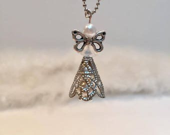 Necklace White Pearl silver ORIGINAL Angel doll