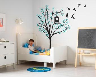 Baby Nursery Tree wall decal-Nursery Wall Decals-Wall stickers for bedroom-Tree wall stickers-Nursery decor-Kids room decor