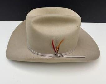 Vintage Stetson Hat with Box 3XXX Beaver Stetson.