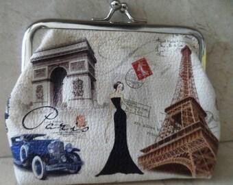 Paris wallet retro vintage 13 x 11 cm atmosphere couture