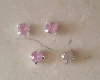 set of 50 appliques 5 mm pink rhinestones